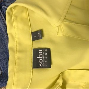 New York & Company Tops - Yellow Blouse Tank Top